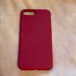 Red/Maroon silicone phone case iPhone 8+